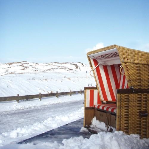 Schnee auf Langeoog