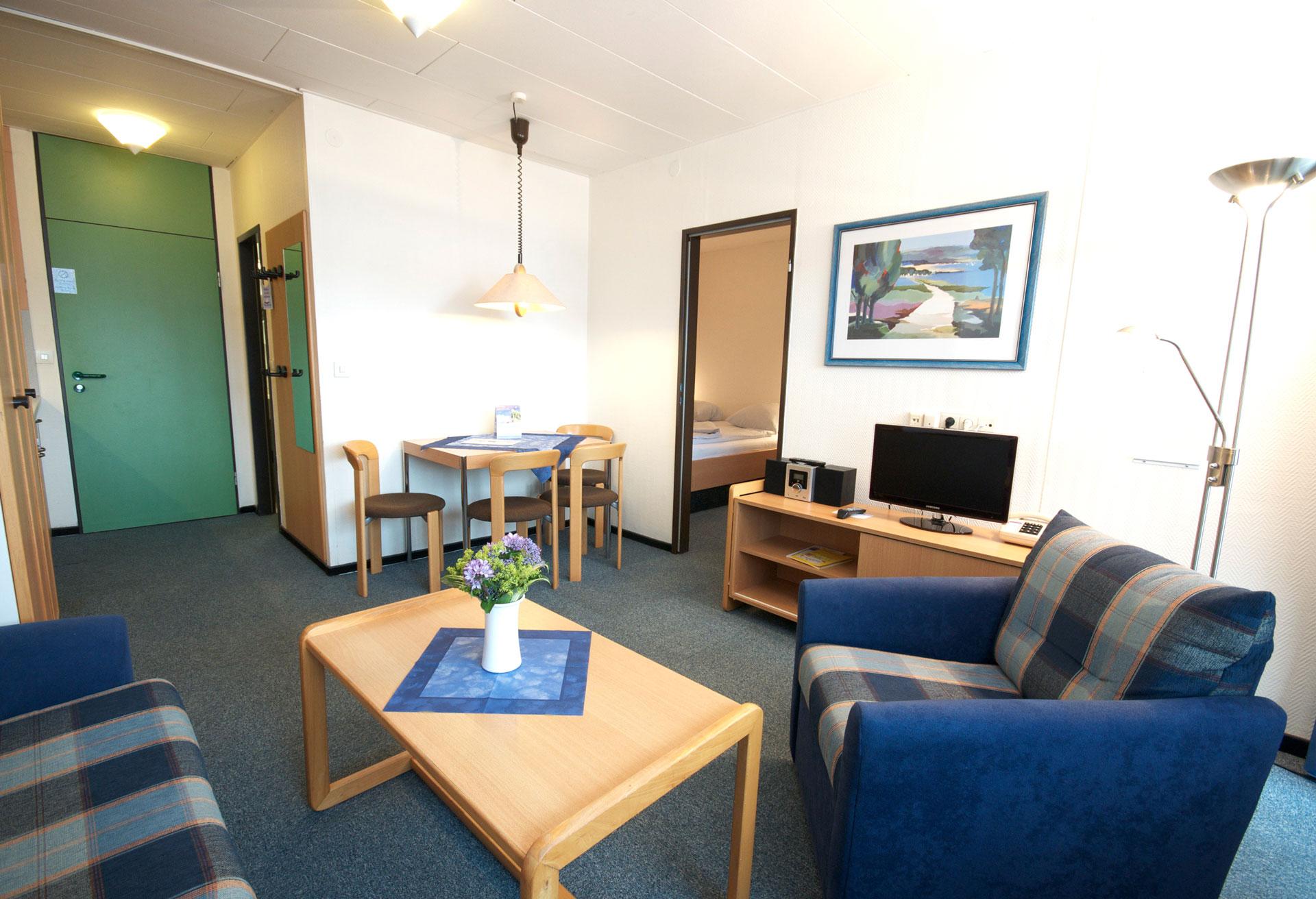 Bensersiel Apartment Wohnzimmer